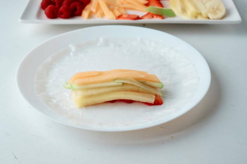 Fruit Salad Rolls process