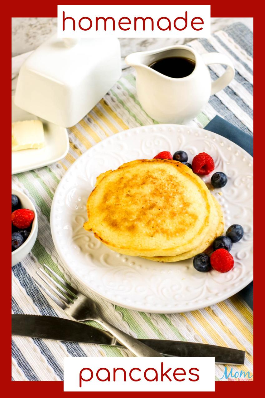 Easy Homemade Pancakes Recipe #breakfast #food #eatme