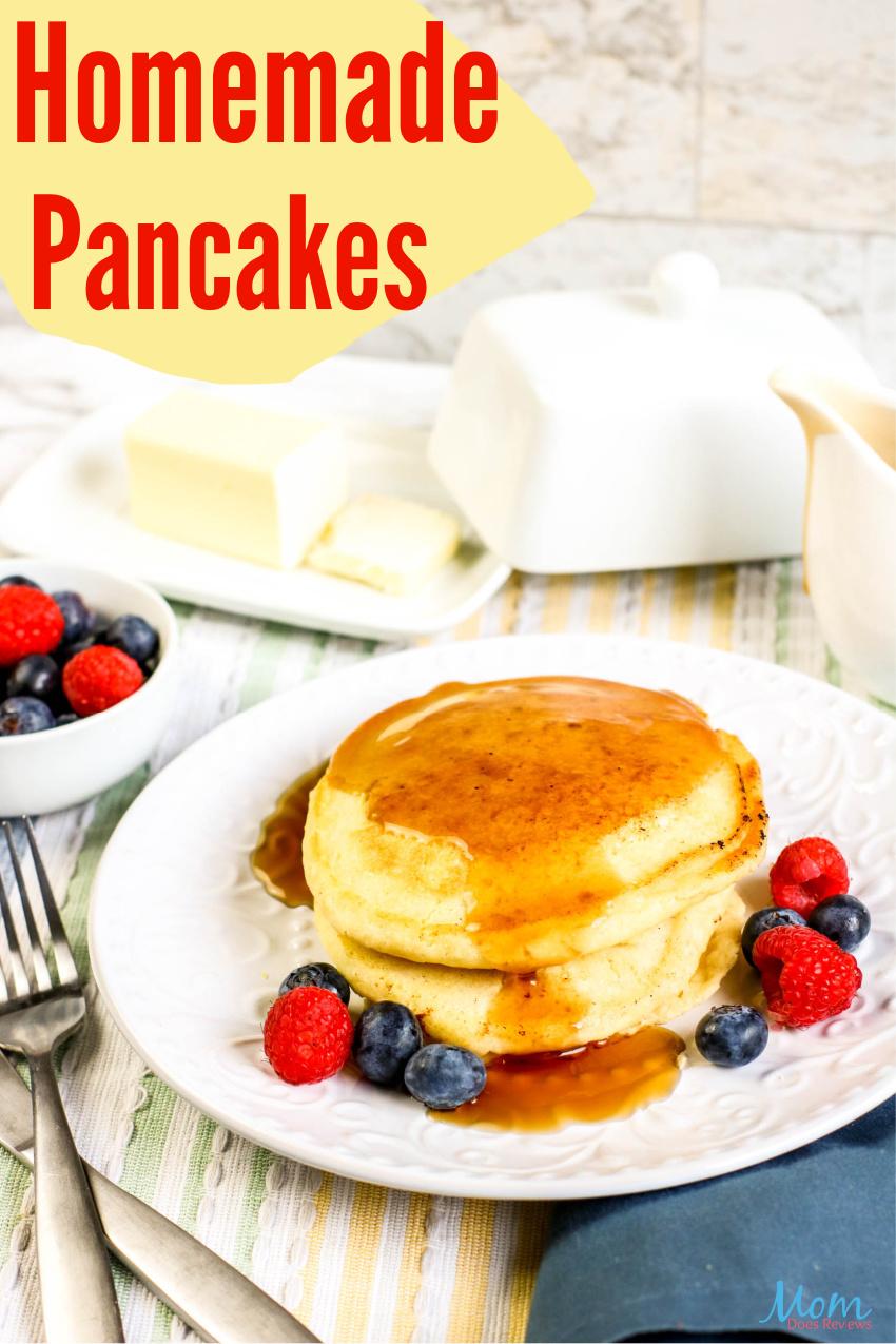 Easy Homemade Pancakes #Recipe #breakfast #food #eatme