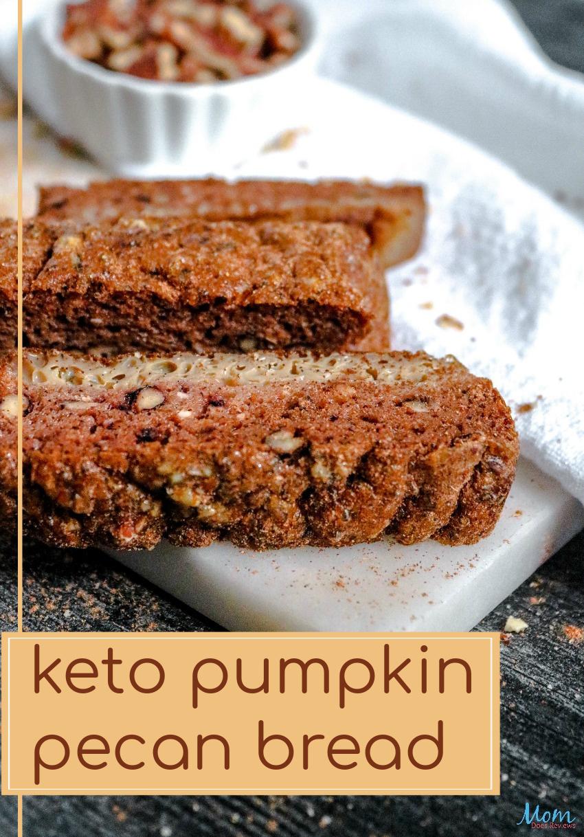 Keto Pumpkin Pecan Bread Recipe #KETO #pumpkin #foodie