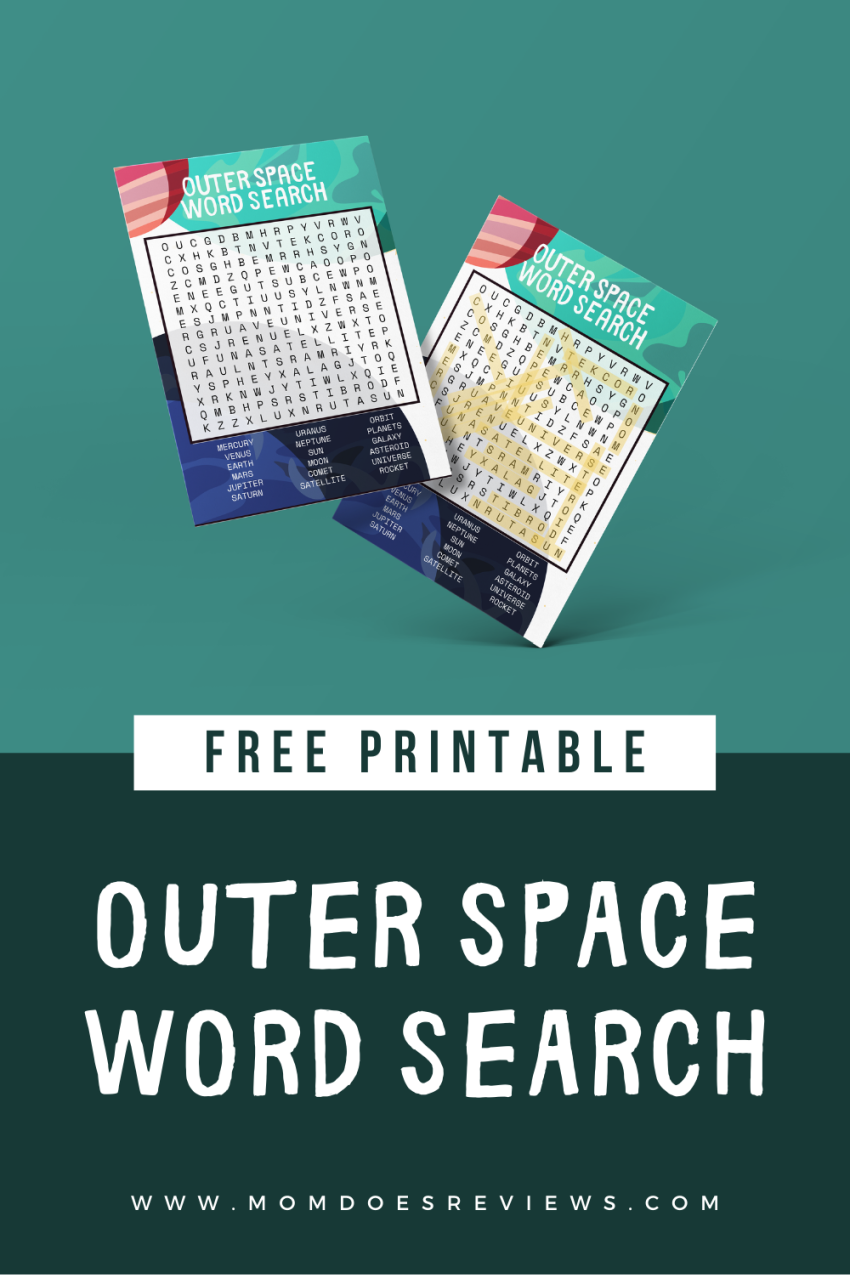 Outer Space Word Search Puzzle #printables #funstuff #puzzles