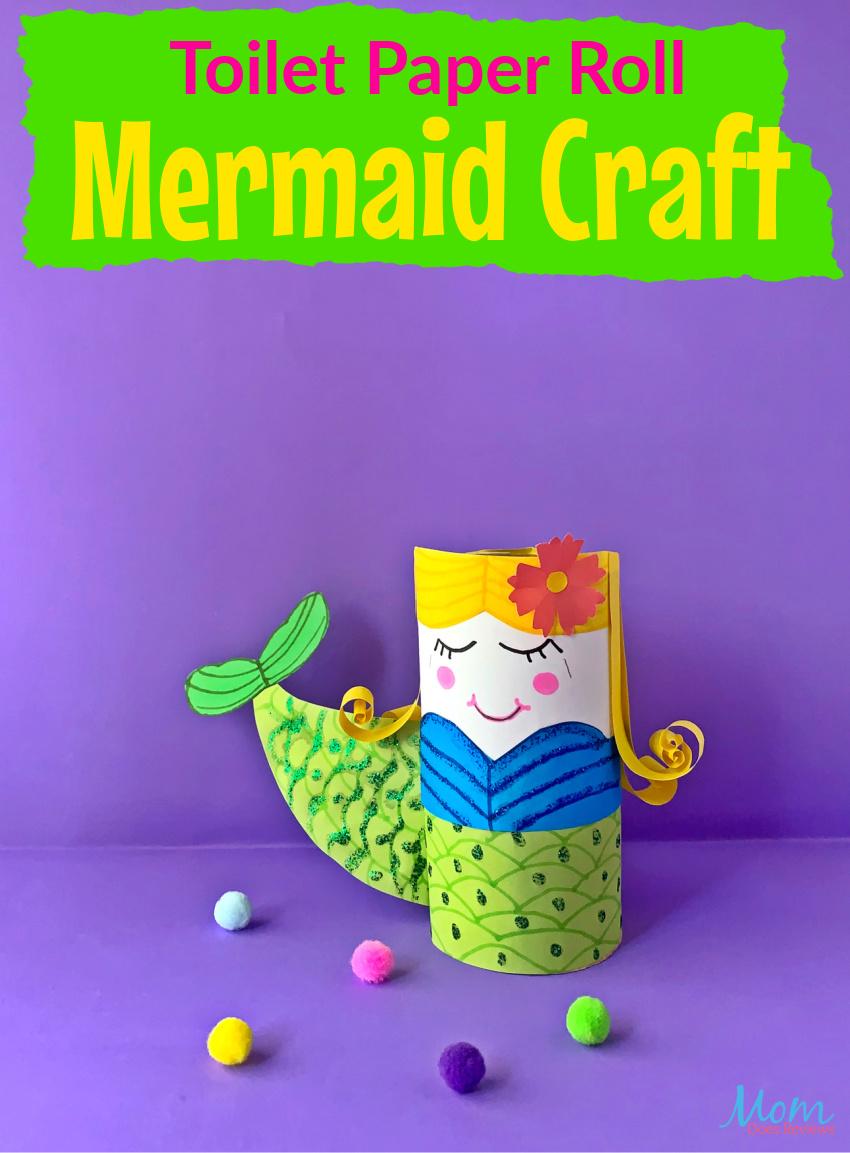 Toilet Paper Roll Mermaid Craft for Kids #funstuff #diy #crafts
