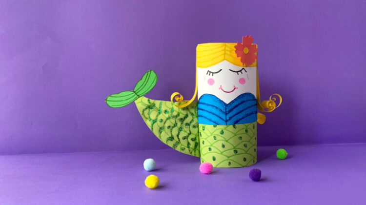 Toilet Paper Roll Mermaid Craft for Kids