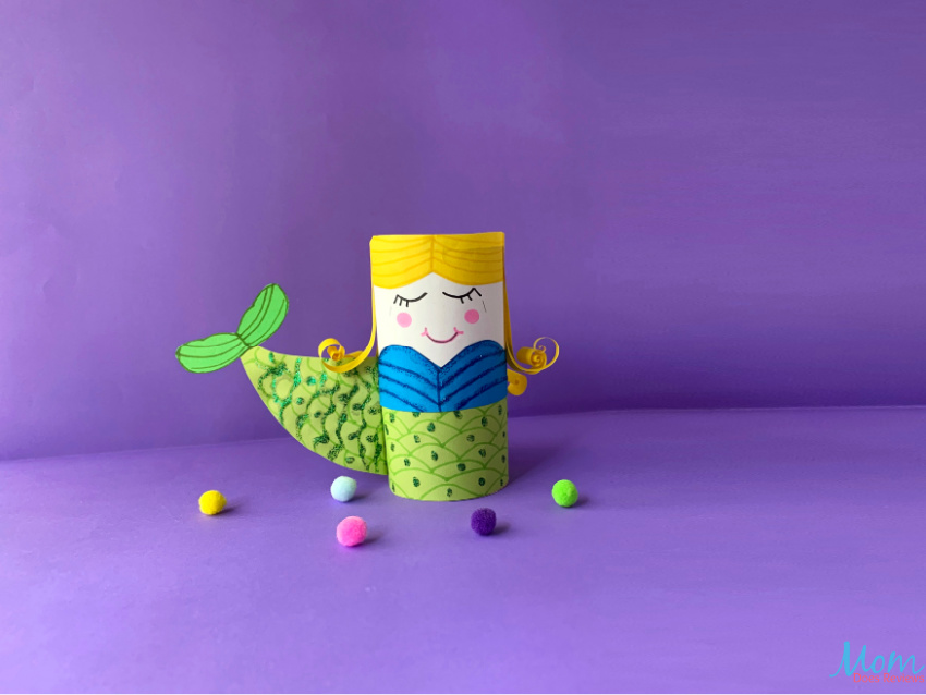 Toilet Paper Roll Mermaid Craft for Kids