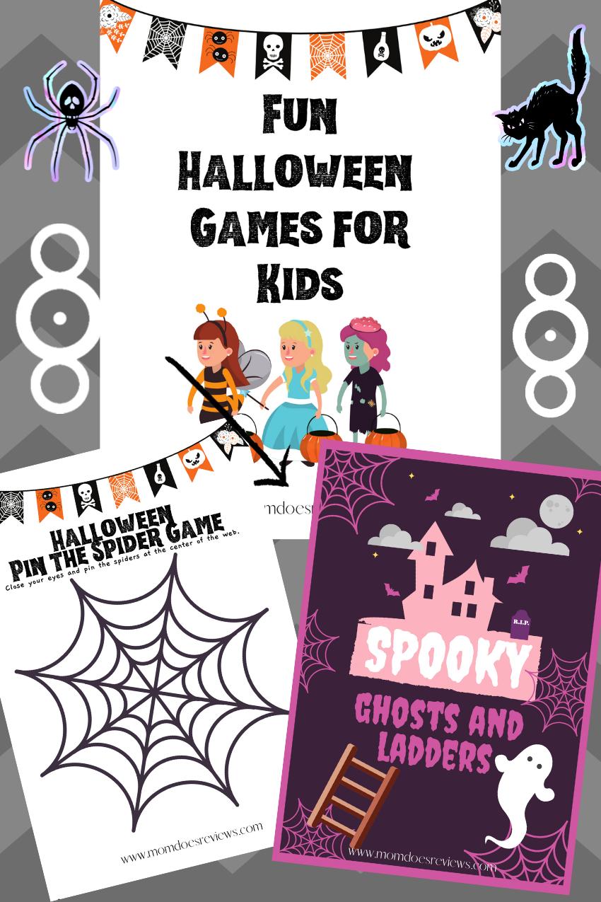 Halloween Games for Kids- Free Printables! #printables #halloween #funstuff