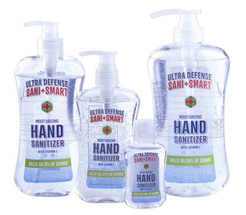 Keep Germs at Bay with Ultra Defense Sani + Smart Hand Sanitizer!
