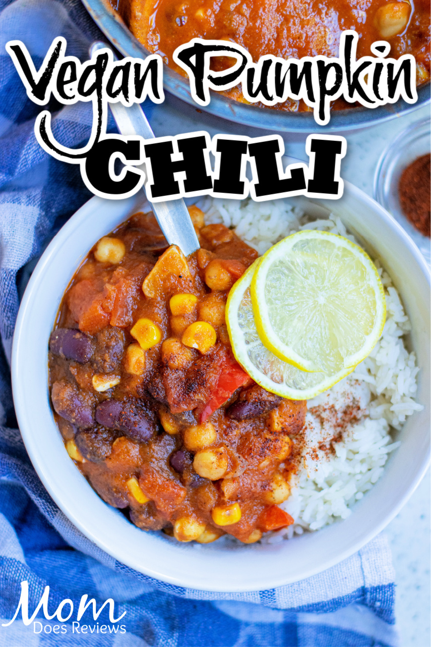 Vegan Pumpkin Chili #recipe