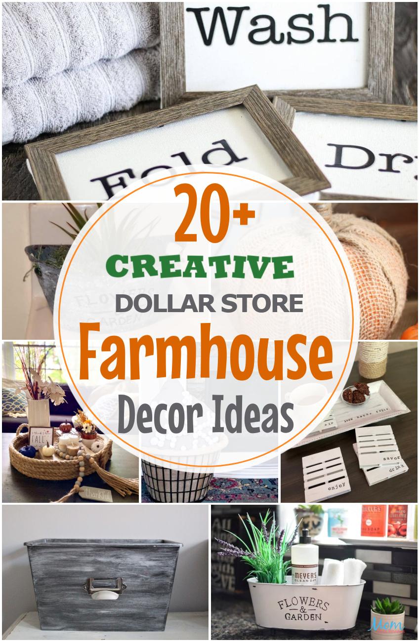 20+ Creative Dollar Store Farmhouse Decor Ideas You Will Love #decor #farmhousestyle #DIY