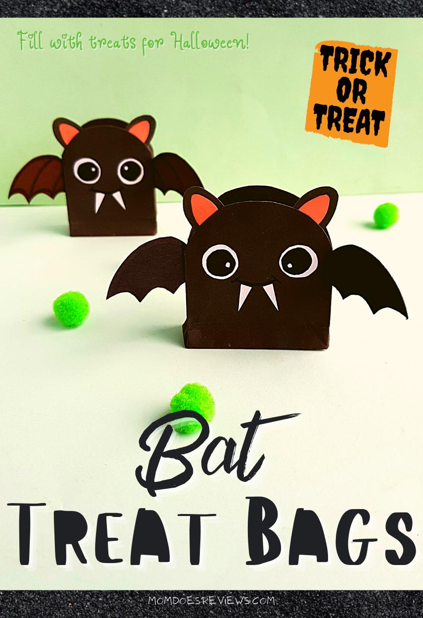 Easy DIY Bat Treat Bags for Halloween! #crafts #funstuff #halloween