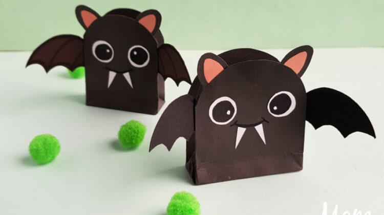 Easy DIY Bat Treat Bags for Halloween!