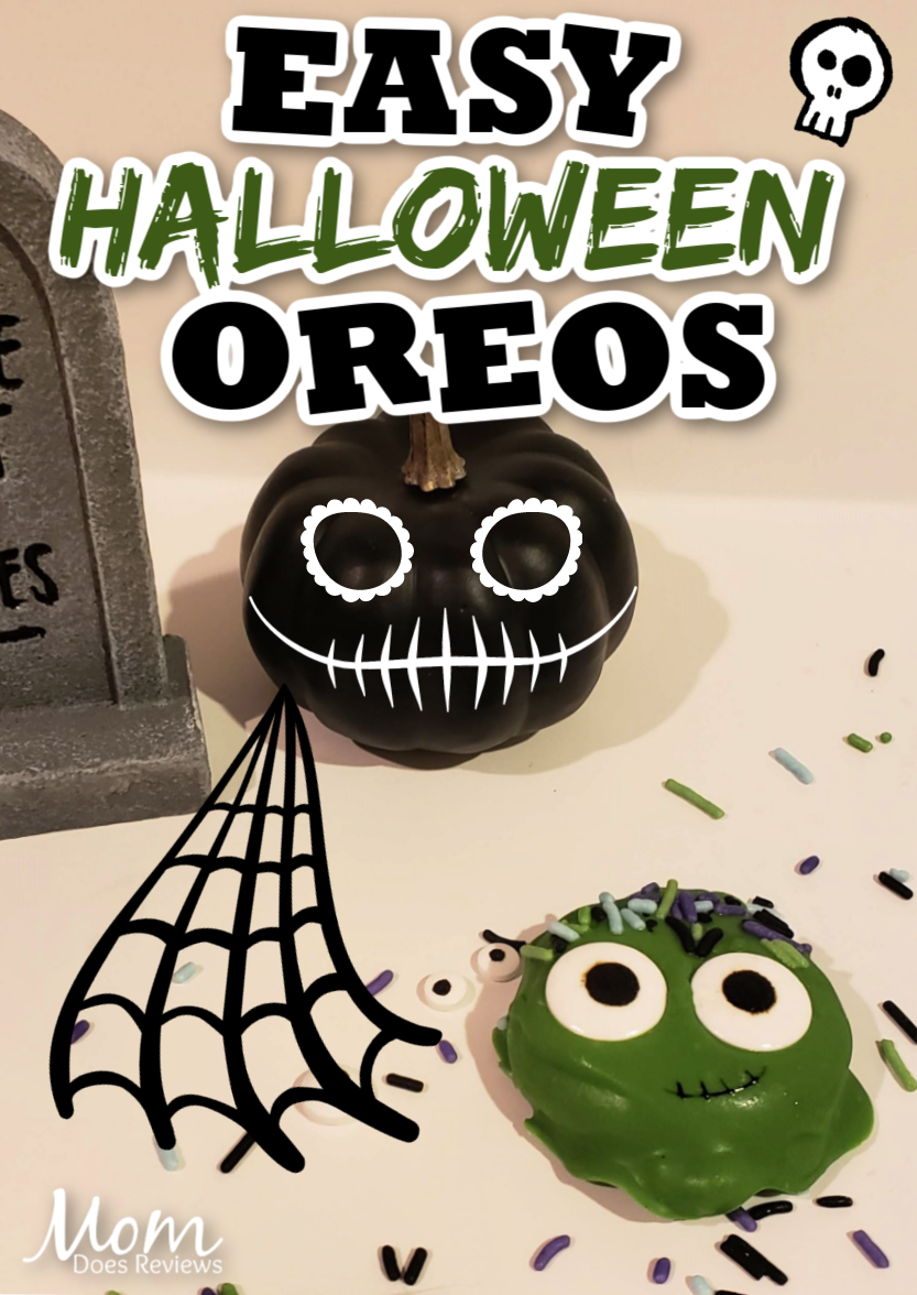 Monster Chocolate Covered Oreos #halloween #funfood #cookies