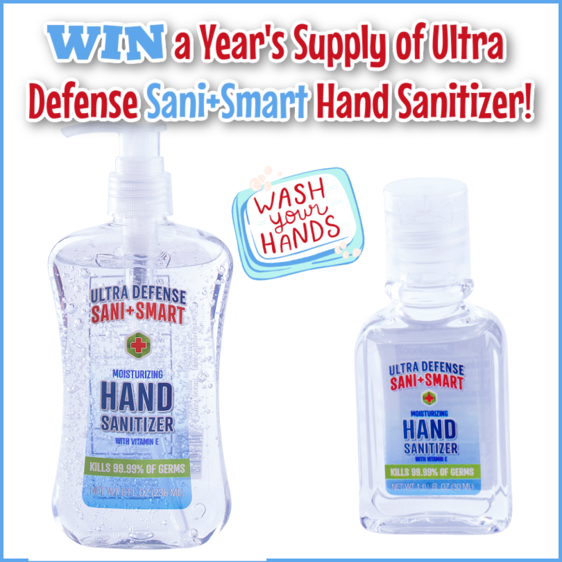 #Win a Year's Supply of Ultra Defense Sani+Smart Hand Sanitizer!