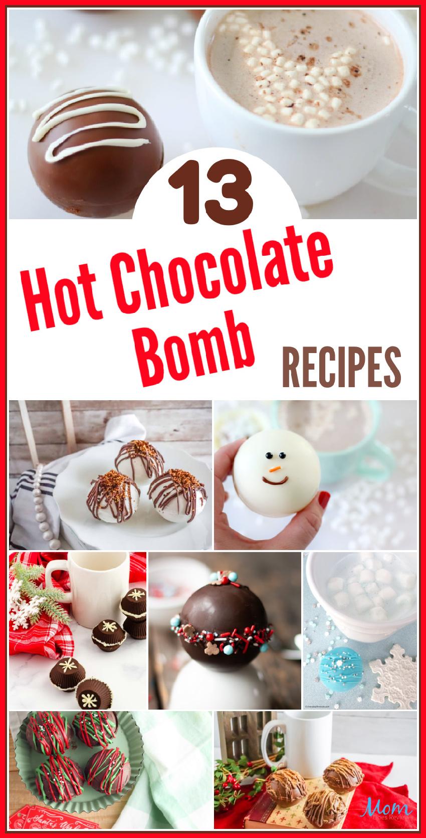 13 Hot Chocolate Bomb Recipes You NEED To Try Today #Hotcocoabombs #hotchocolate #chocolatelove