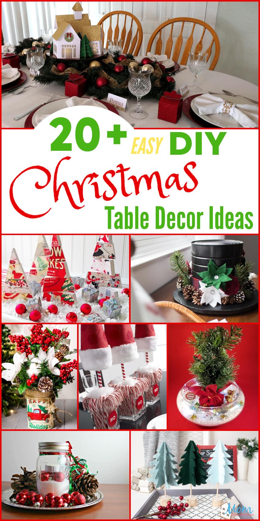 20+ Easy DIY Christmas Table Decor Ideas for a Beautiful ...