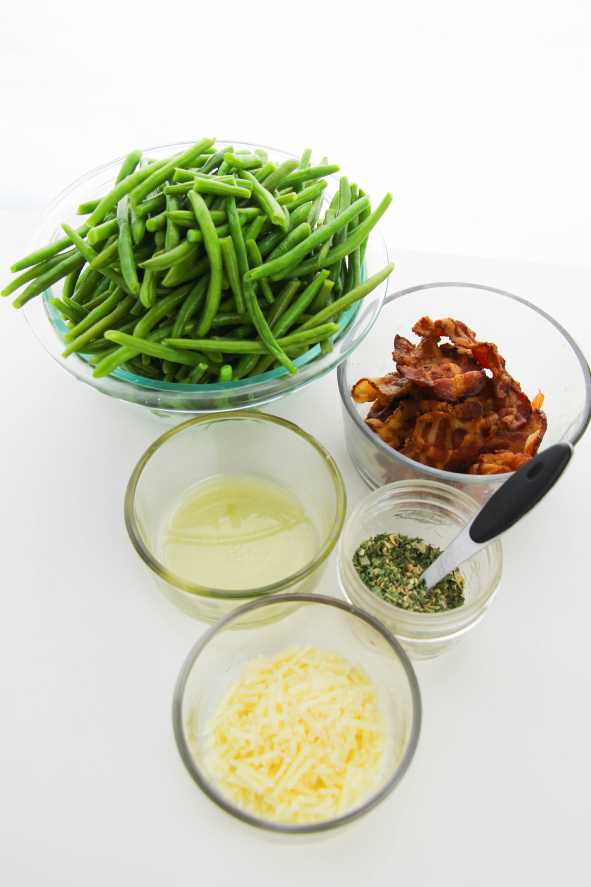 Bacon Parmesan Green Bean ingredients needed