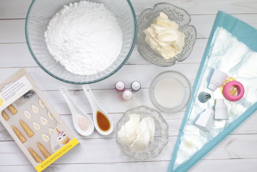 Buttercream Frosting ingredients needed