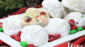 Christmas Snowball Cookies