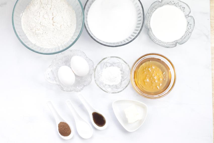Honey Cinnamon Bumblebee Cupcakes ingredients needed