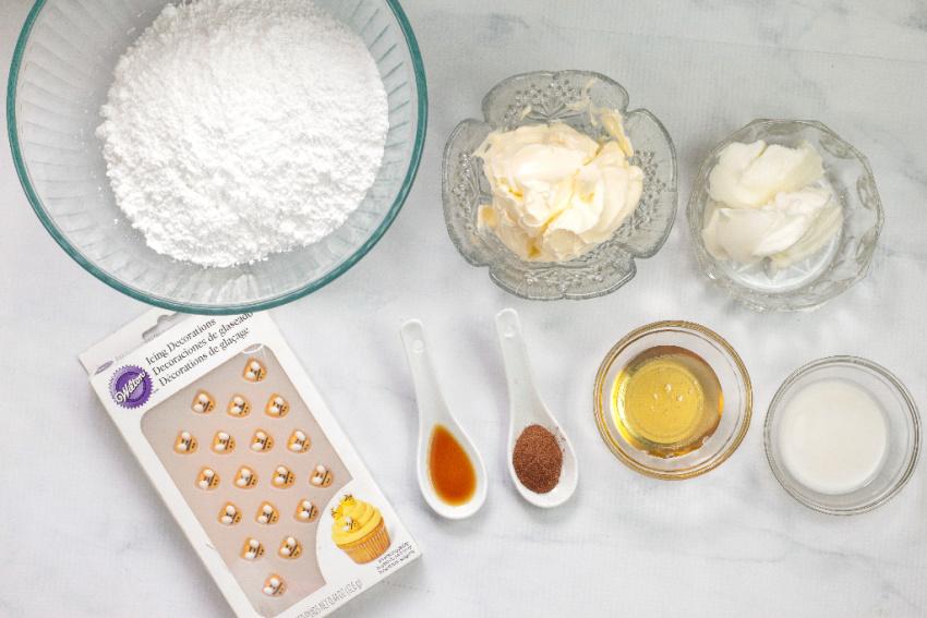 Honey Cinnamon Cream Cheese Frosting ingredients needed