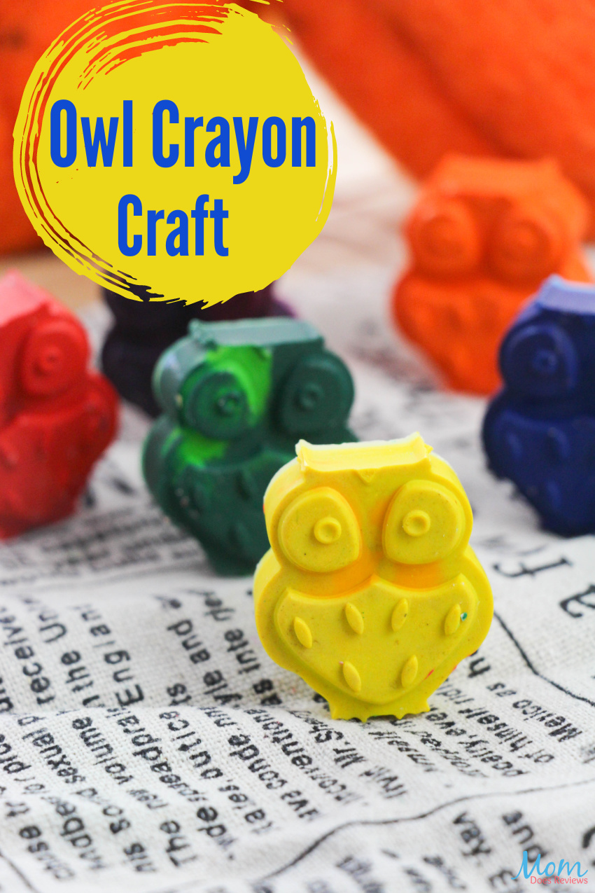 Easy Owl Crayon Craft for Recycling Old Crayons #DIY #crafts #recycledcraft