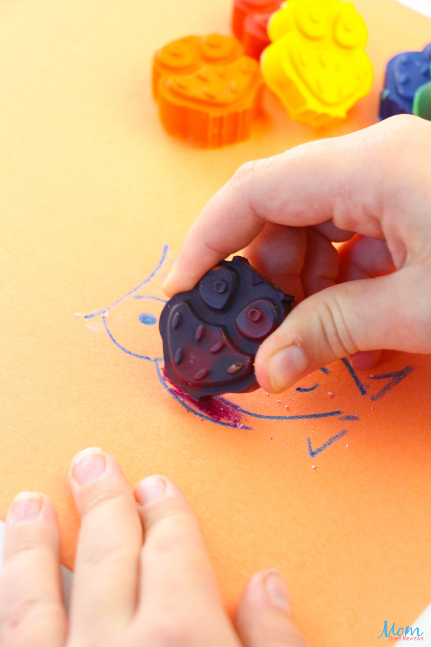 Easy Owl Crayon Craft for Recycling Old Crayons