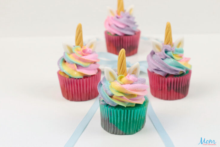 Tie Dye Unicorn Cupcakes with Buttercream Frosting Recipe