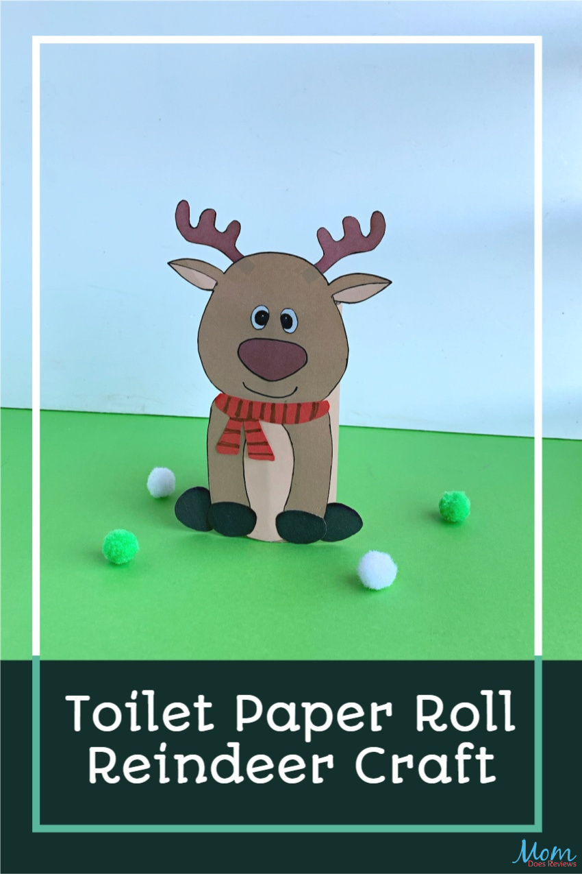 Toilet Paper Roll Reindeer Craft for Kids #ChristmasCraft #Craftideas #TProllcrafts