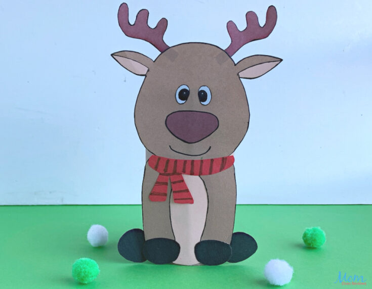 Toilet Paper Roll Reindeer Craft for Kids