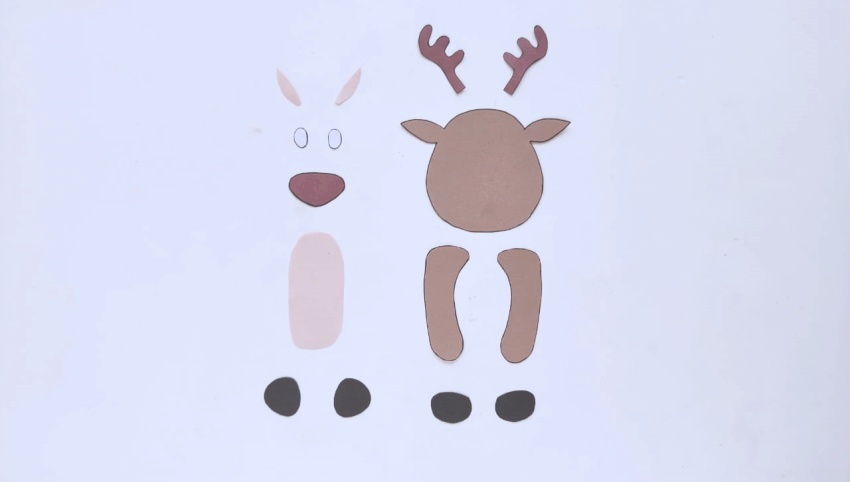 Toilet Paper Roll Reindeer Craft process