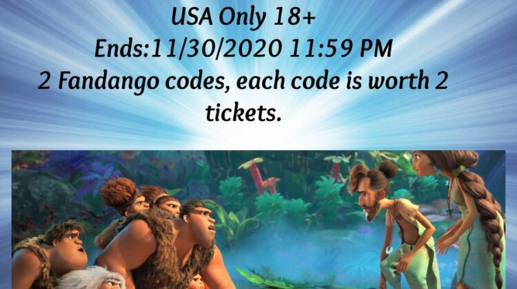 #Win 2 Fandango Codes for The Croods: A New Age