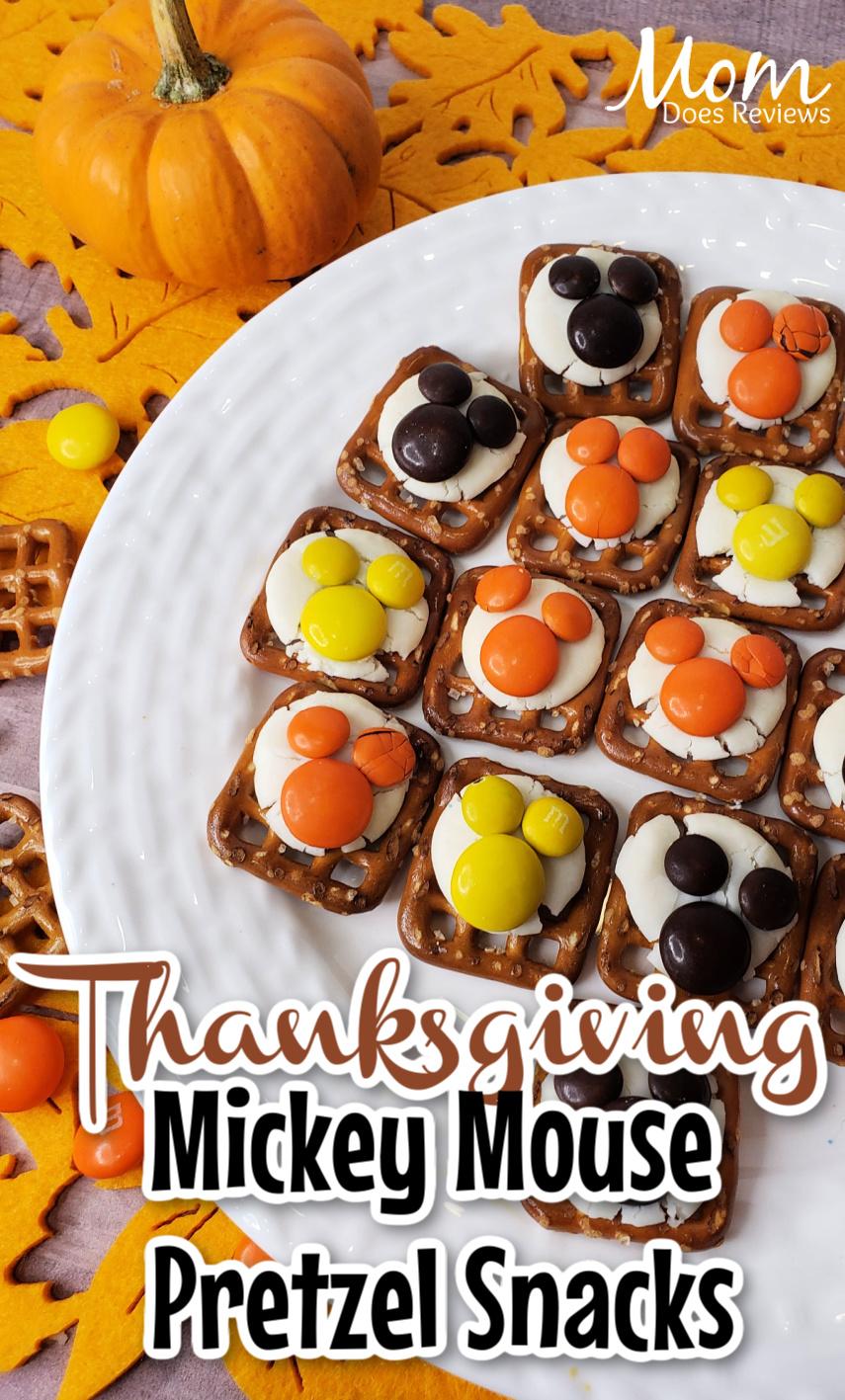 Thanksgiving Mickey Mouse Pretzel Bites #funfood #recipe #snacks #mickeymouse