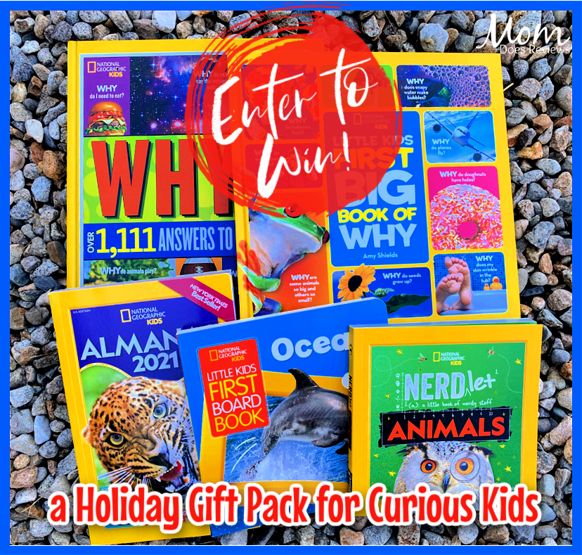 #Win National Geographic Kids Books Holiday Gift Pack for Curious Kids! #MEGAChristmas20