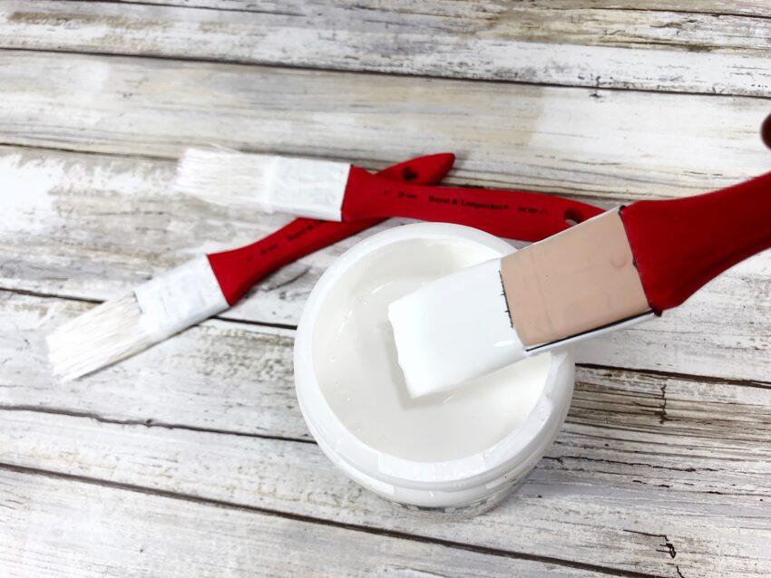 DIY Paintbrush Santa Ornament