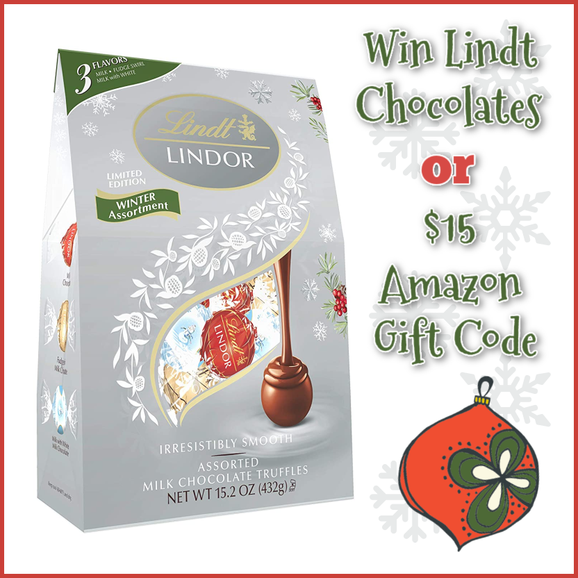 #Win Lindt Chocolates or $15 Amazon GC! US, Ends 11/30