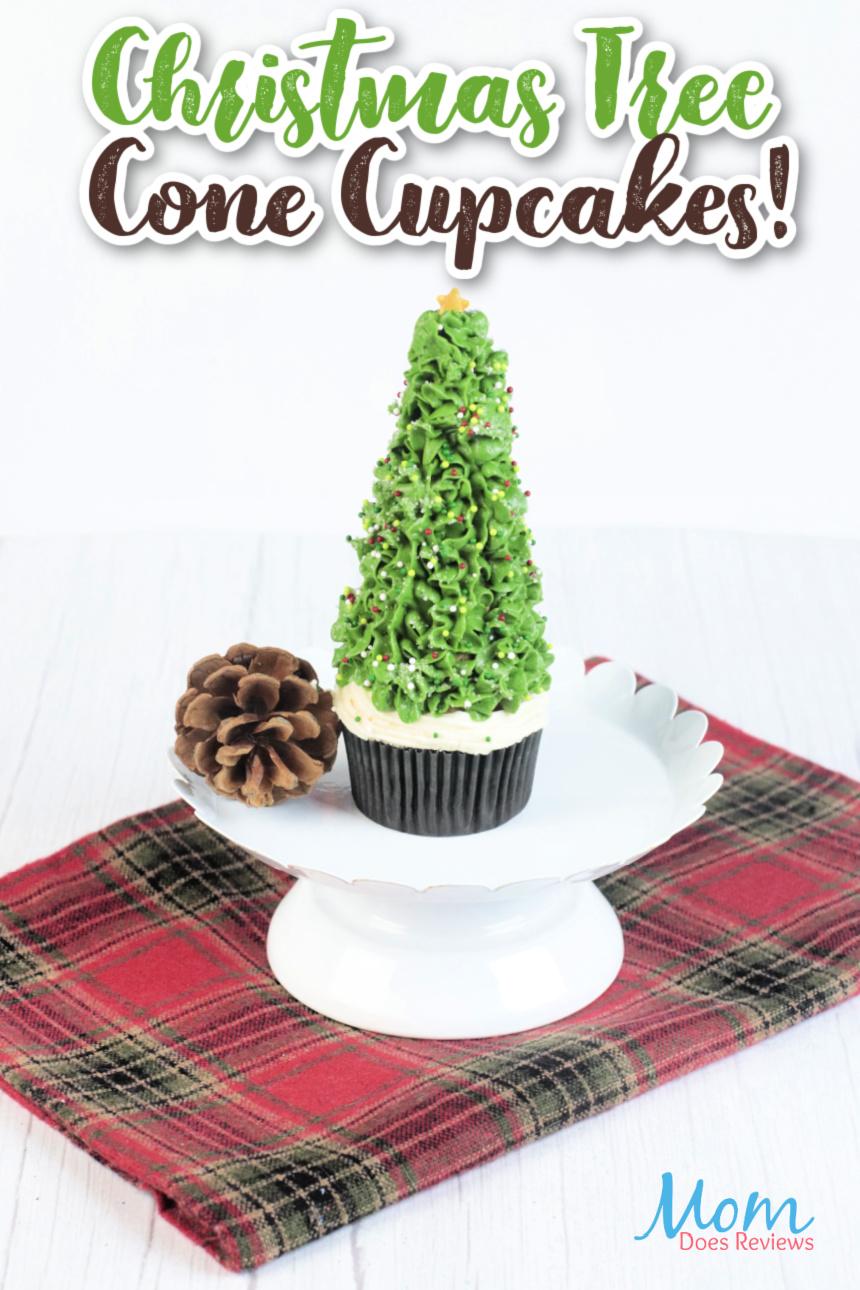 Beautiful Christmas Tree Cone Cupcakes #Recipe