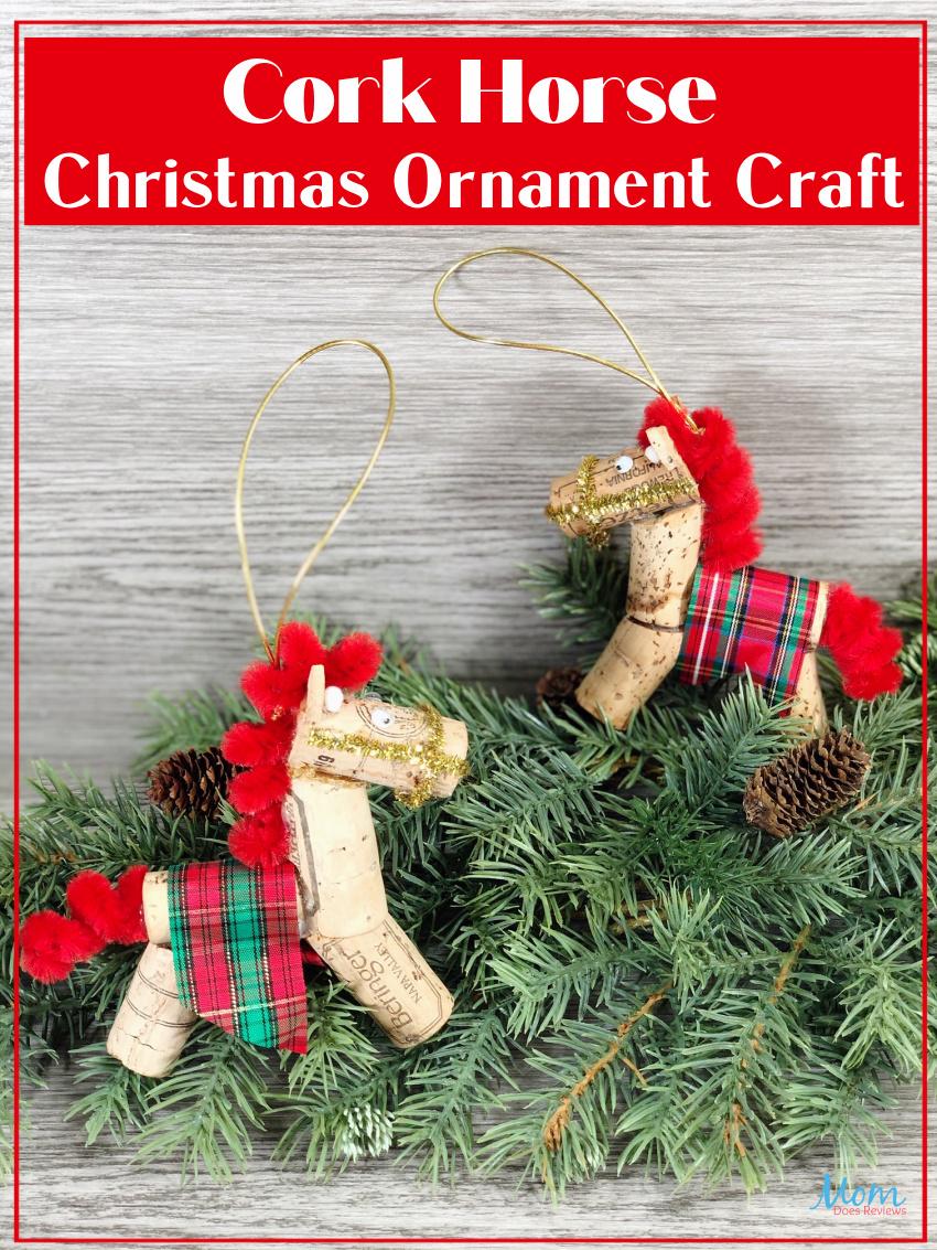 Cork Horse Christmas Ornament #craft #dollarstorecraft #christmascraft #ornament