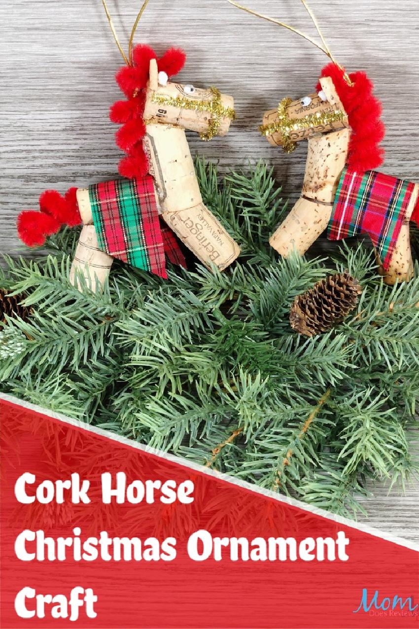 Cork Horse Christmas Ornament Craft #dollarstorecraft #christmascraft #ornament