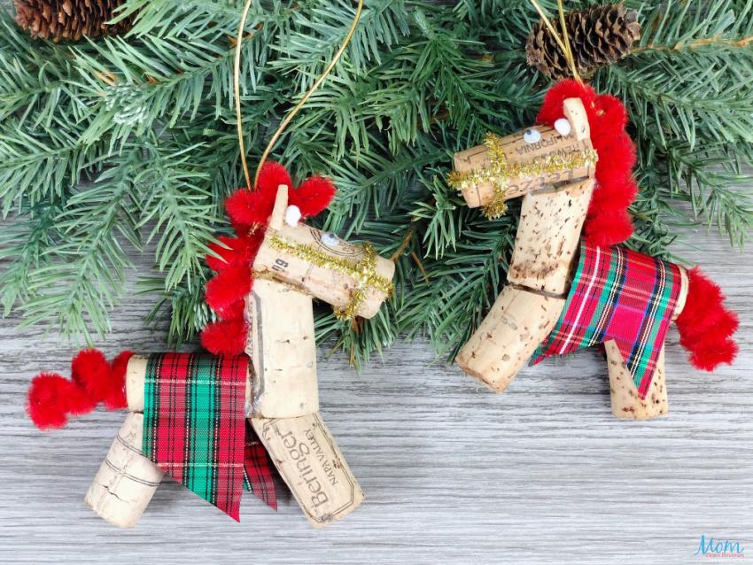 Cork Horse Christmas Ornament Craft