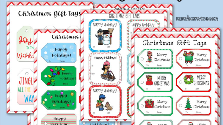 Printable Christmas Gift Tags #Christmaswrapping #gifttags #printables