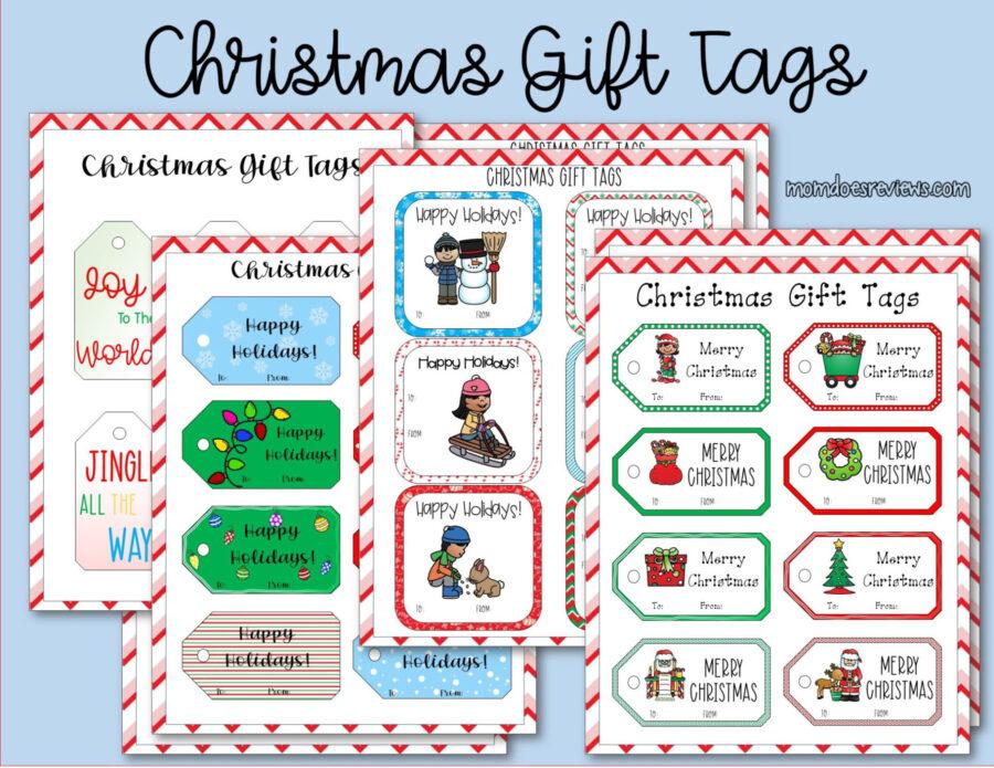 Printable Christmas Gift Tags #Christmaswrapping #gifttags #printables