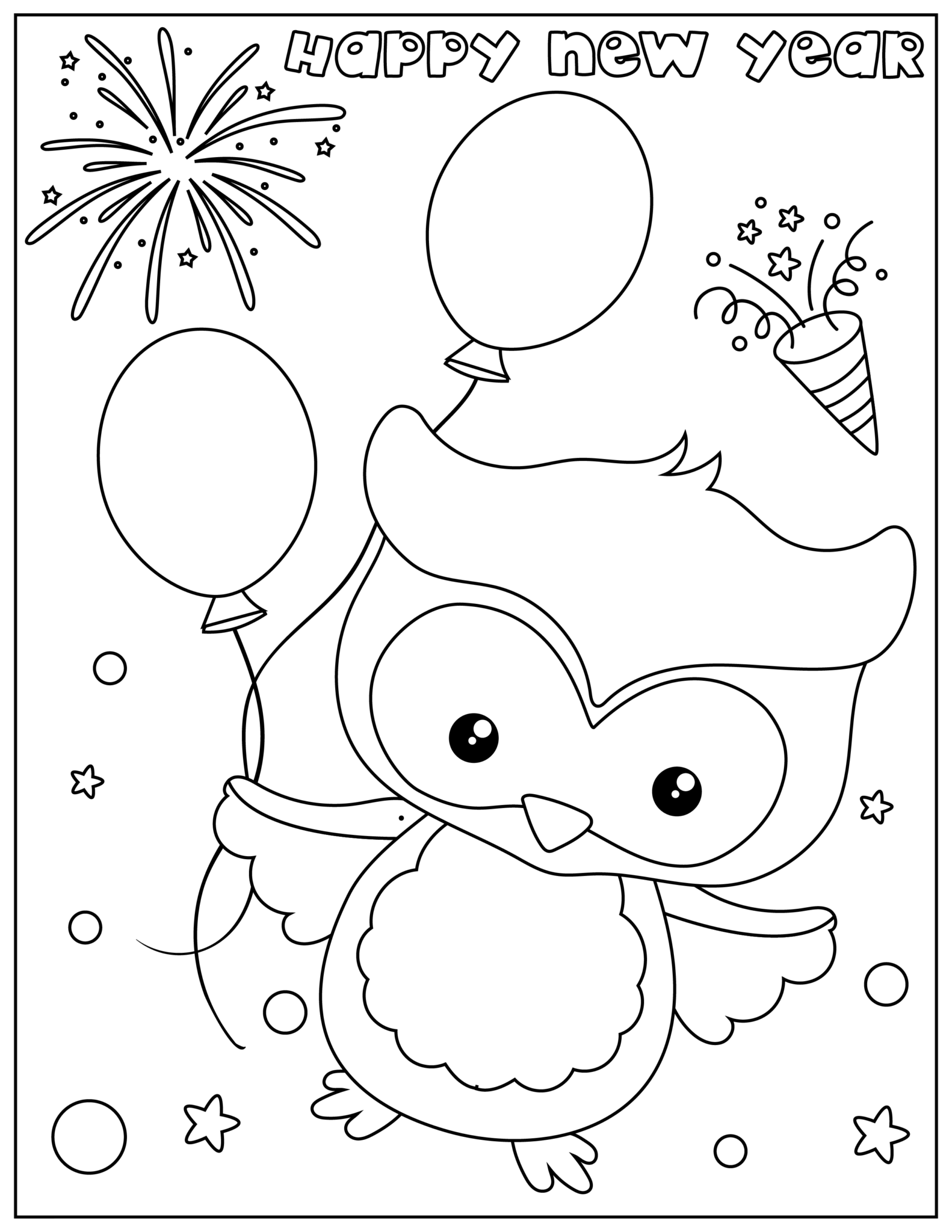 Ring in the New Year With Fun Activity Pages