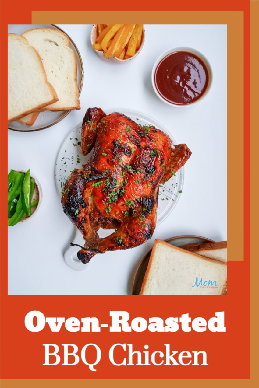 Oven-Roasted BBQ Chicken Recipe #chicken #familymeal #foodie