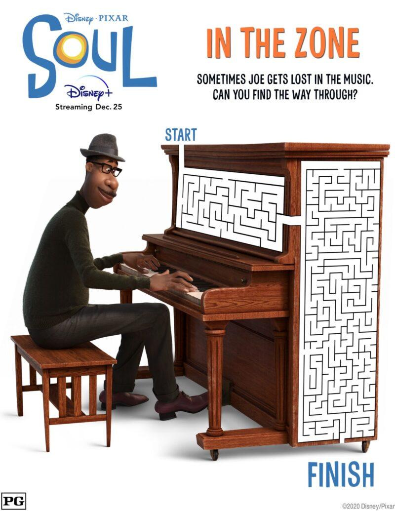 Watch Disney Pixar SOUL on Disney+ - Get the Activity Sheets! #PIXARSOUL