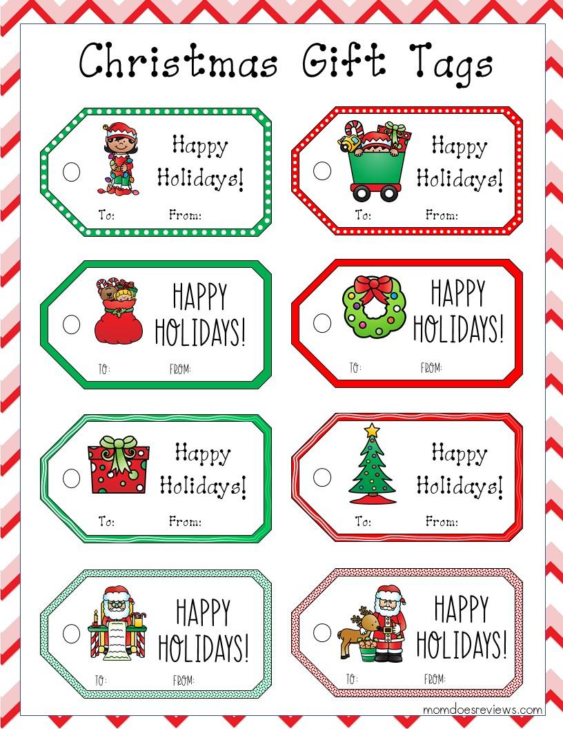 Printable Christmas Gift Tags #Christmastime