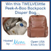 Win this TWELVElittle Peek-A-Boo Backpack Diaper Bag
