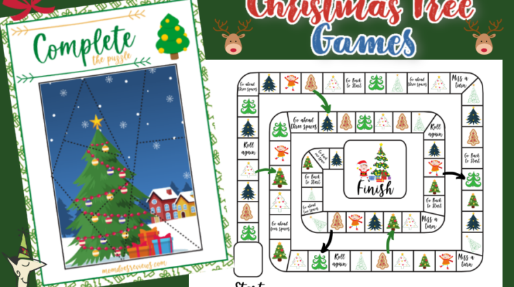 Christmas Tree Games - Print a pack of fun and free printables!