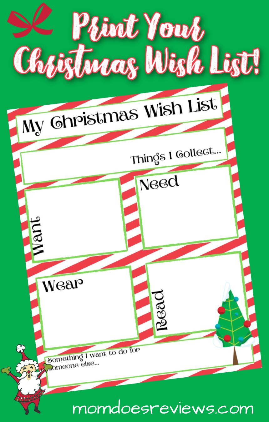 Printable Christmas Gift Wish List #Christmaswish