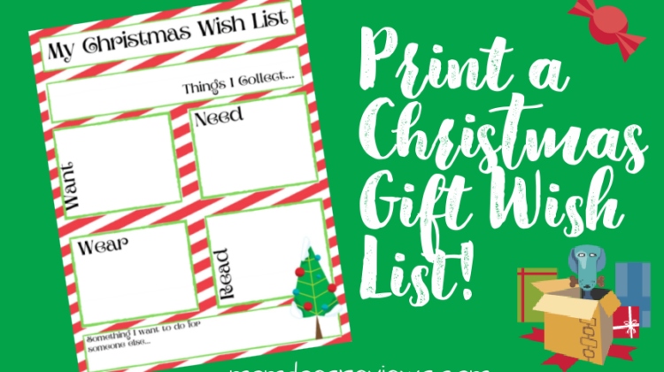 Printable Christmas Gift Wish List