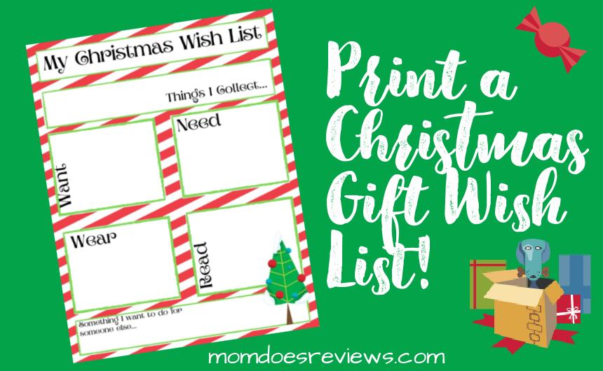 Printable Christmas Gift Wish List