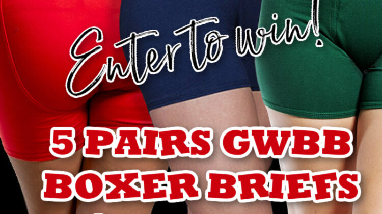 2 Winners- Five Pairs GWBB Boxer Briefs! US/CAN #MegaChristmas20
